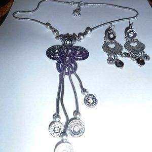 SILVER HANGING NECKLACE SET